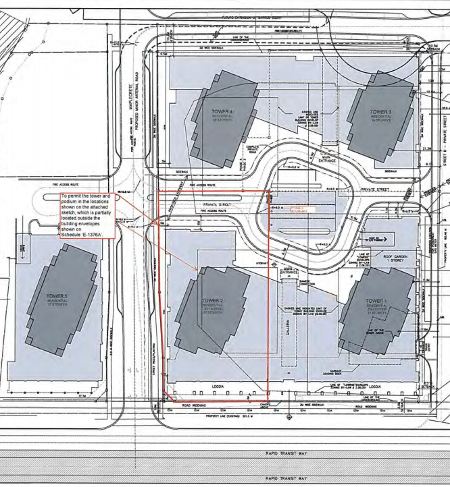 Expo Vaughan Metropolitan Centre Site Plan with 5 Towers